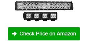 "Autofeel 52"" Light Bar 22"" Combo Beam Light Bar 4 LED Light Pods"
