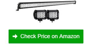 "OEDRO 52"" 758W LED Light Bar 2 Driving Light Pods"