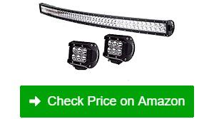 """TURBO SII 50"""" LED Light Bar 2 LED Fog Light Pods"""