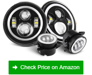 sunpie led halo with turn signal headlights
