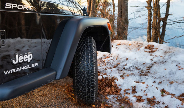 jeep wranglers in the snow