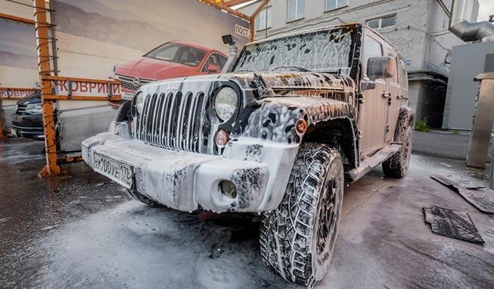 can a soft top jeep go through a carwash